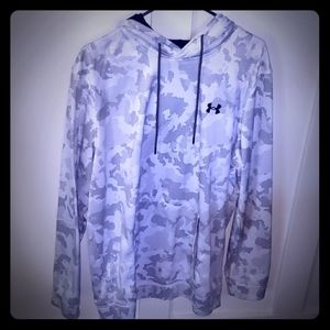 Under Armour hoodie white with black sz XL